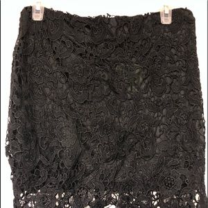Dresses & Skirts - Black Lace Skirt